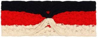Gucci Kids Striped crochet headband