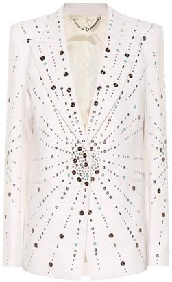 Paco Rabanne Embellished virgin wool blazer