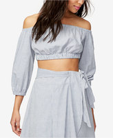 Rachel Roy Cotton Ruched Crop Top, Only at Macy's