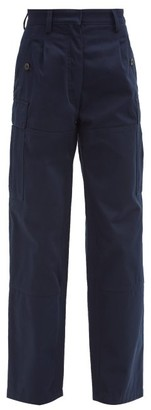 Loewe High-rise Cotton-twill Cargo Trousers - Navy