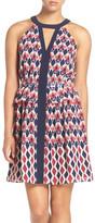 Adelyn Rae Print Halter Shift Dress