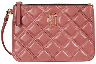 Marc Jacobs The Quilted Softshot Wristlet (Santa Fe Red) Handbags