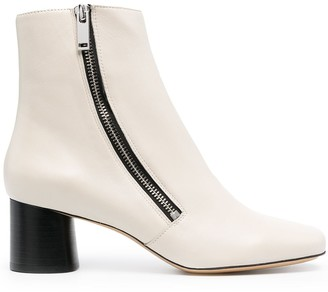 Sandro Side Zip Ankle Boots