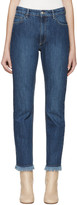 Each X Other Blue Raw Edge Jeans