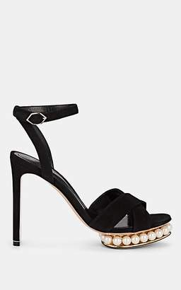 Nicholas Kirkwood Women's Casati Suede Platform Sandals - Black