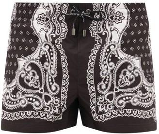 Dolce & Gabbana Bandana-print Swim Shorts - Black Multi