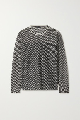 Akris Cashmere-blend Jacquard Sweater - Black