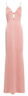 Cushnie Cutout Hammered Satin-crepe Gown