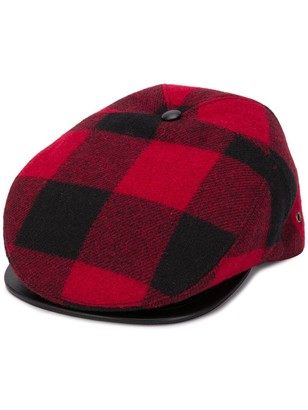 DSQUARED2 Logo Embroidered Checked Flat Cap