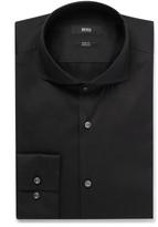 Hugo Boss - Black Jason Slim-fit Cutaway-collar Stretch Cotton-blend Shirt