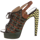 Proenza Schouler Leather Peep-Toe Platforms