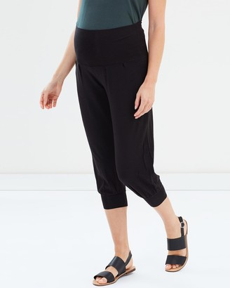 Bamboo Body - Women's Black Cropped Pants - Summer Slouch Pants - Size One Size, XS at The Iconic