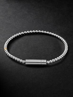 Le Gramme Le 11 Sterling Silver And 18-Karat Gold Beaded Bracelet