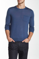 Vince Wool Crew Neck Pocket Sweater