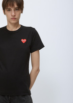 Comme des Garcons Black Red Heart T-shirt