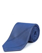 Jaeger Silk Texture Block Stripe Tie