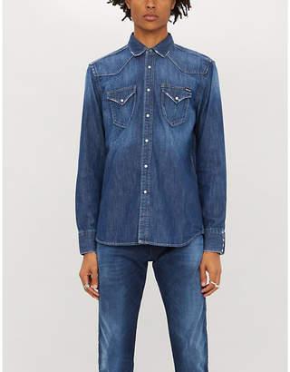 Replay Faded slim-fit denim shirt
