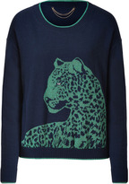 Juicy Couture Royal Navy/Malachite Snow Leopard Pullover