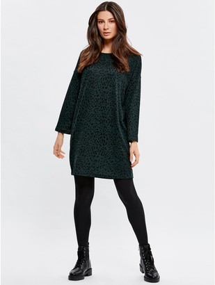 M&Co JDY leopard tunic dress