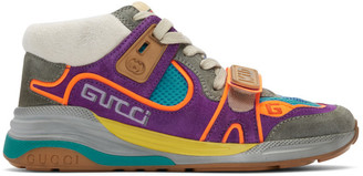 Gucci Purple and Blue Ultrapace Mid-Top Sneakers