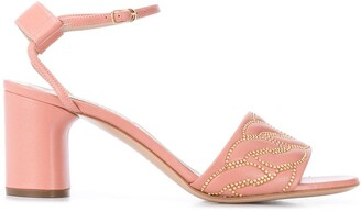 Casadei Block Heel Studded Sandals