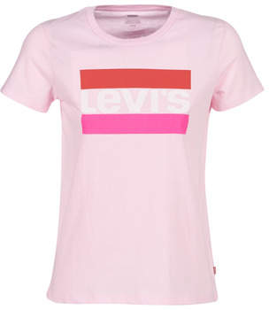 Levi's Levis THE PERFECT TEE women's T shirt in Pink