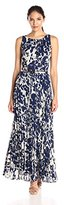 Jessica Howard Women's Floral Pleated Maxi