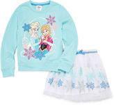 Disney 2-pc. Frozen Long-Sleeve Top and Skirt Set - Girls