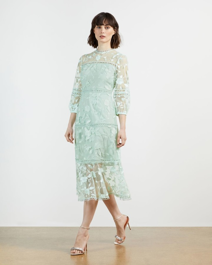 Ted Baker Lace Floral Midi Dress