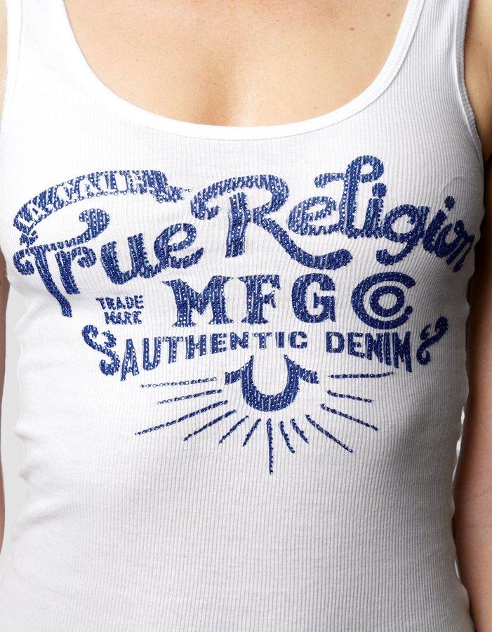 True Religion Hand Picked Ole Scoop Womens Tank