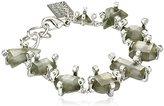 Erickson Beamon Rocks Silver Multi-Stone Bracelet
