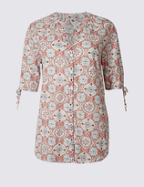 Classic Cotton Rich Printed Tie Sleeve Shirt
