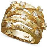 Effy D'Oro by Diamond Woven Ring (1 ct. t.w.) in 14k Gold