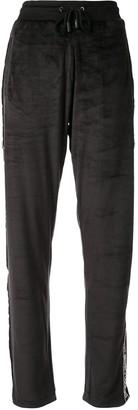 Roberto Cavalli Logo Stripe Drawstring Track Pants