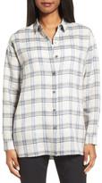 Nordstrom Oversize Plaid Linen Shirt