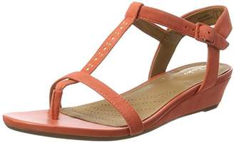 Clarks Women's Parram Blanc Wedge Heels Sandals, Orange (Corals Suede)