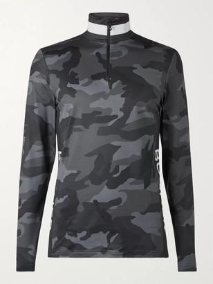 Bogner Verti Logo-Print Camouflage Stretch-Jersey Half-Zip Base Layer