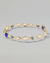 Ippolita 18k Gold Rock Candy Open Gelato Bangle, Corsica