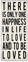 Bed Bath & Beyond There Is Only One Happiness Wall Art