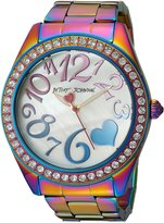Betsey Johnson Women's BJ00624-01 Stainless Steel Case and Bracelet Watch