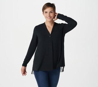 Logo by Lori Goldstein Rayon 230 Cardigan with Lace Back