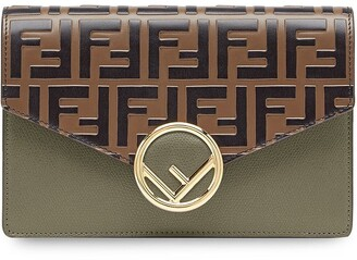 Fendi Zucca pattern wallet on chain