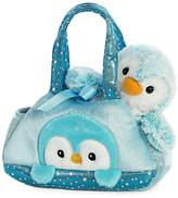 Aurora World PomPom Penguin Plush Toy & Carrier