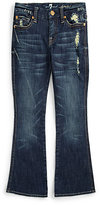 7 For All Mankind Girl's Distressed Bootcut Jeans
