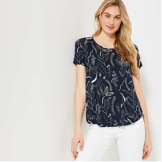 Joe Fresh Women's Print Pocket Tee, Dark Navy (Size XS)