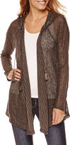 Unity World Wear Unity Long-Sleeve Hooded Textured Knit Cardigan - Plus