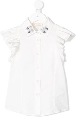 MonnaLisa Pearl-Embellished Shirt