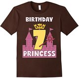 Kids Birthday Girl Shirt For 7 Seven Year Old Princess Crown Wand 12