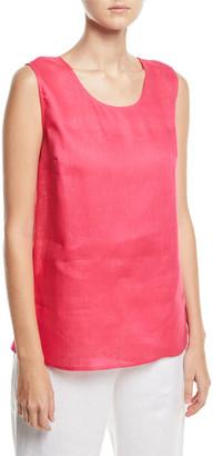 Caroline Rose Petite Tissue-Linen Long Tank Top