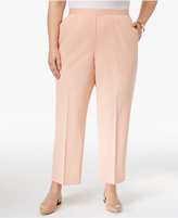 Alfred Dunner Plus Size Just Peachy Collection Pull-On Pants